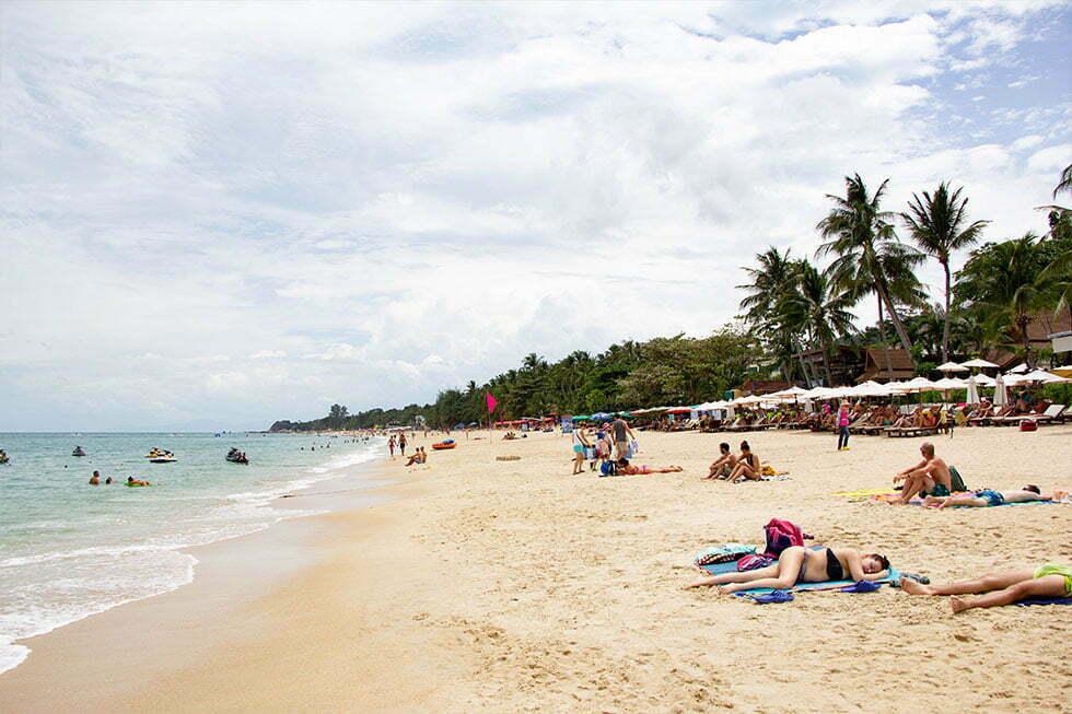 Lamai Beach op Koh Samui