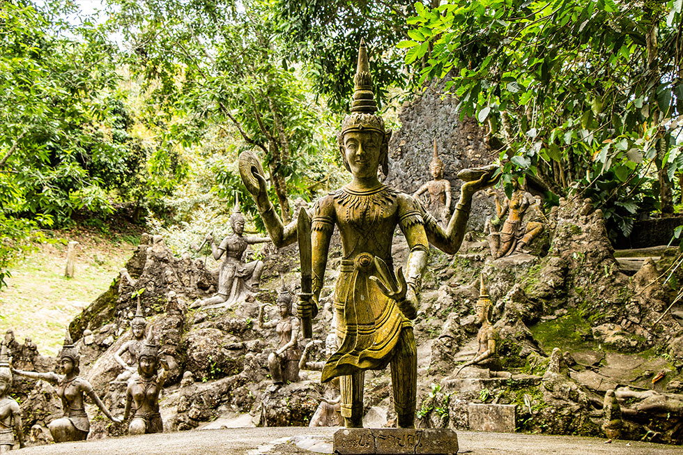 Secret Buddha Garden on Koh Samui