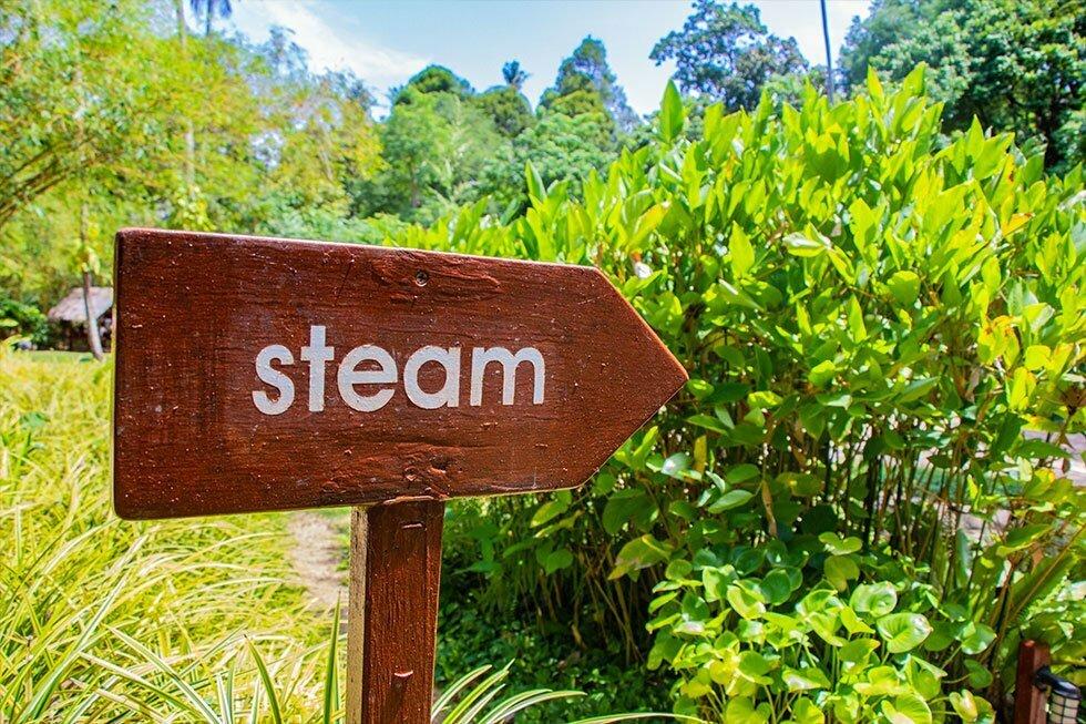 Stoomsauna bij Tamarind Forest Spa