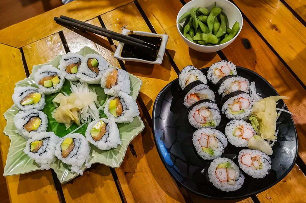 Sushi op Koh Tao
