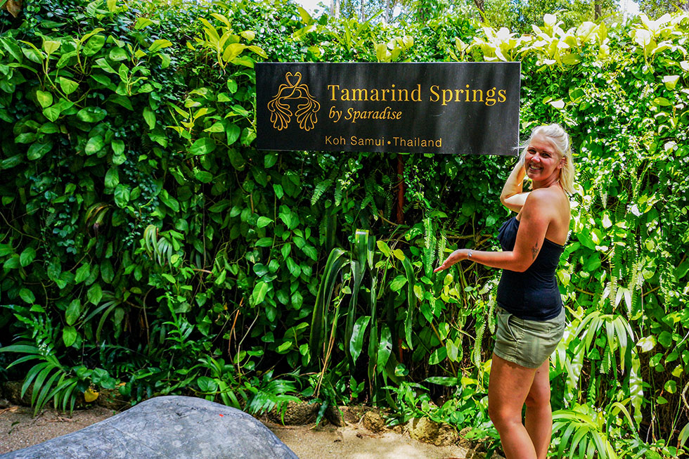 Ingang Tamarind Forest Spa