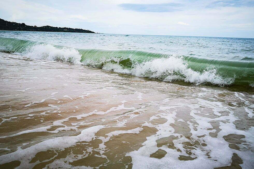 De zee van Koh Samui