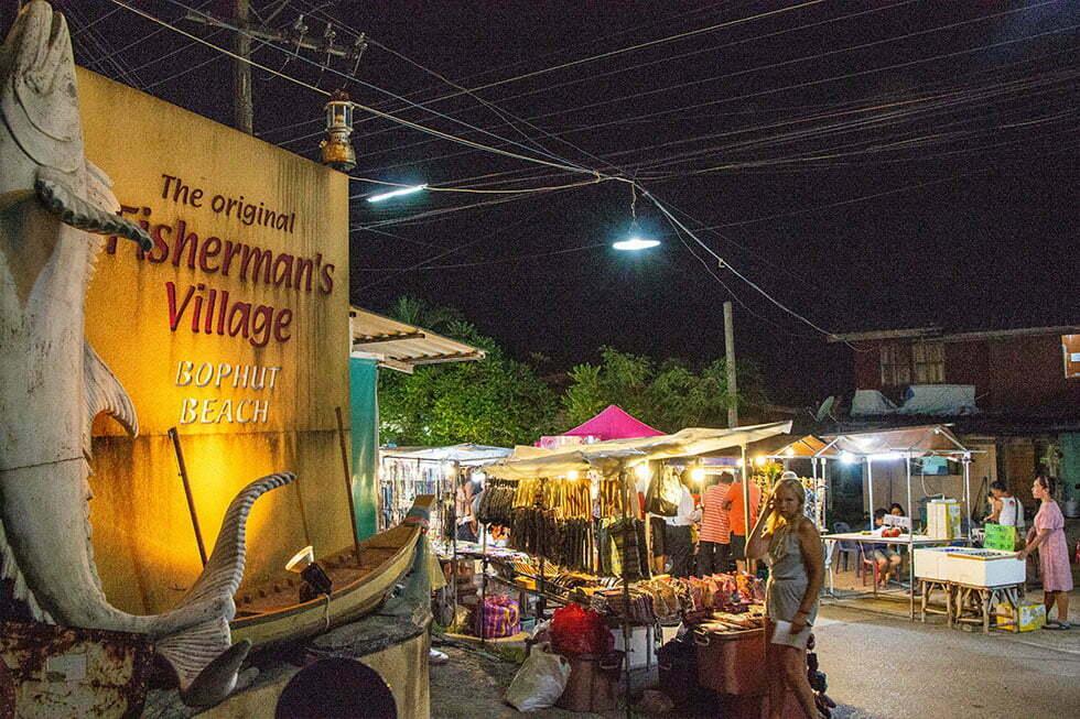 Bophut Market op Koh Damui