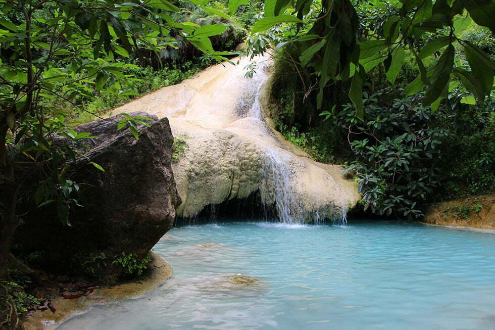 Erawan Watervallen in Kanchanaburi