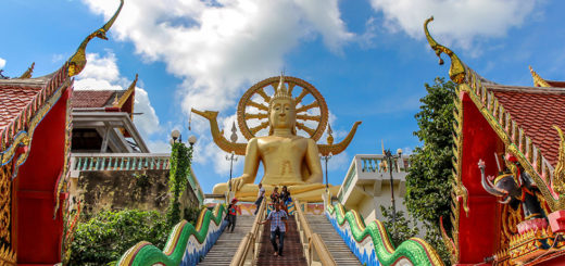 Big Buddha, of Wat Phra Yai, op Koh Samui