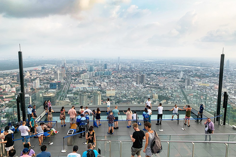 MahaNakhon Skywalk in Bangkok