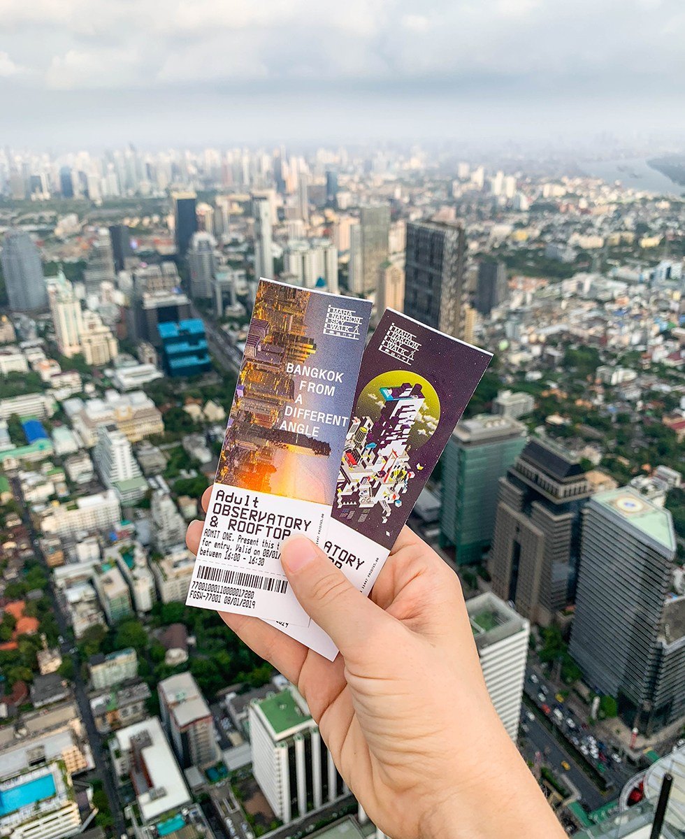 De tickets - MahaNakhon Skywalk in Bangkok
