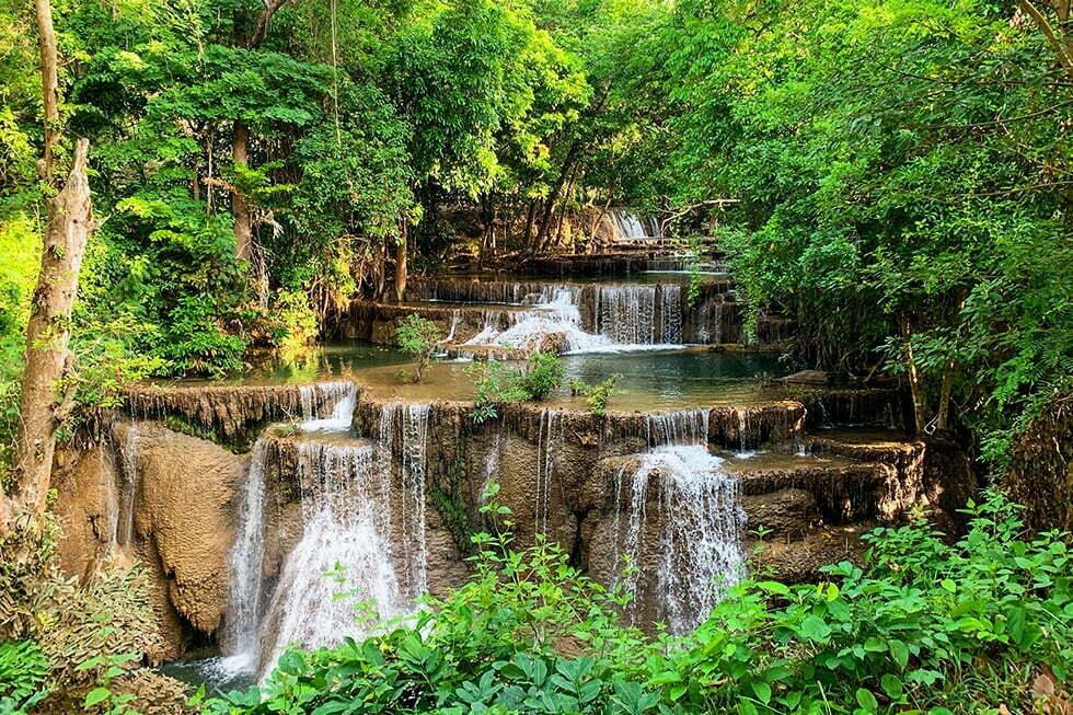 Huay Khanim Watervallen Kanchanaburi