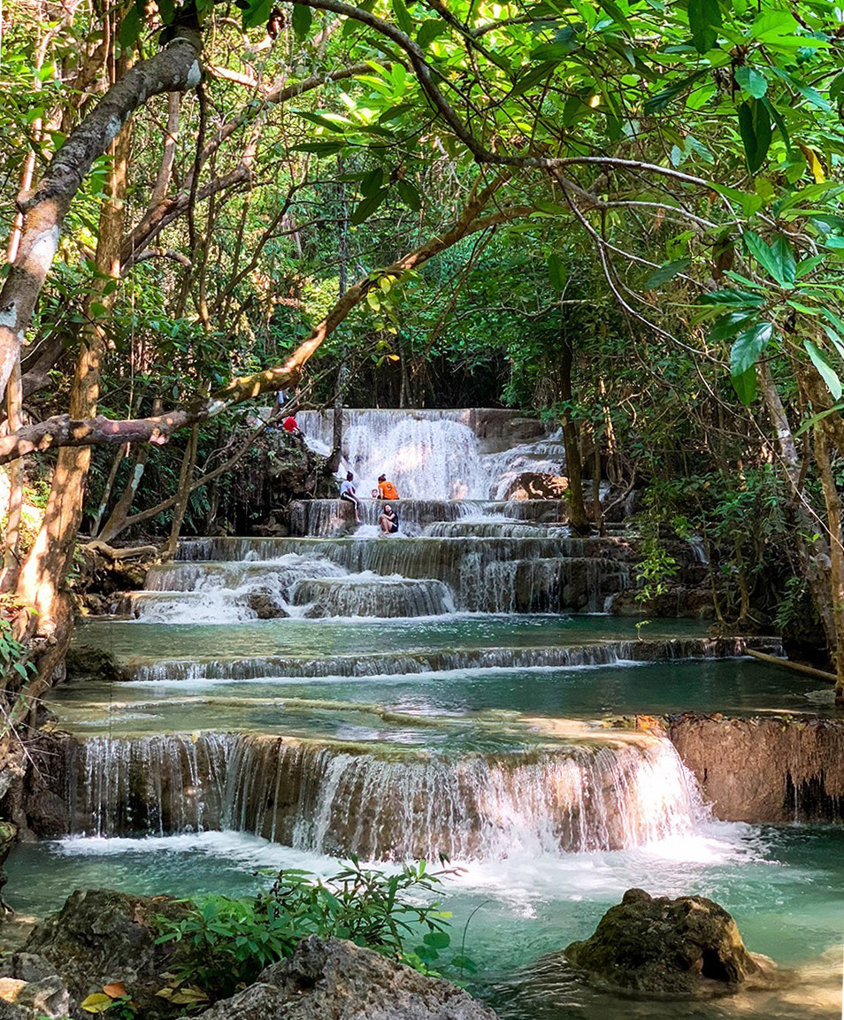 Huay Mae Khanim Watervallen van Kanchanaburi