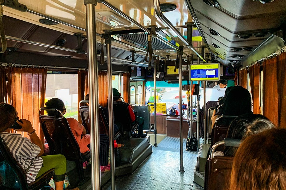 Stadsbus verkeer bangkok transport