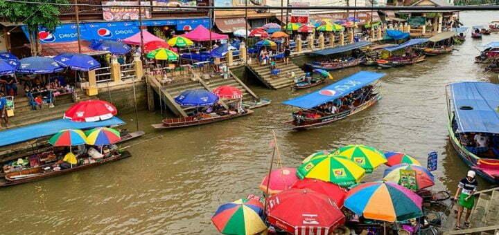 Amphawa Floating Market Bangkok Thailand
