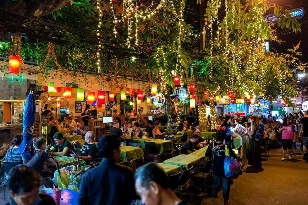 Soi Rambuttri alternatief Khao San Road Bangkok