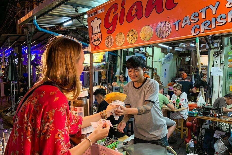 Streetfood in Soi Rambuttri Bangkok