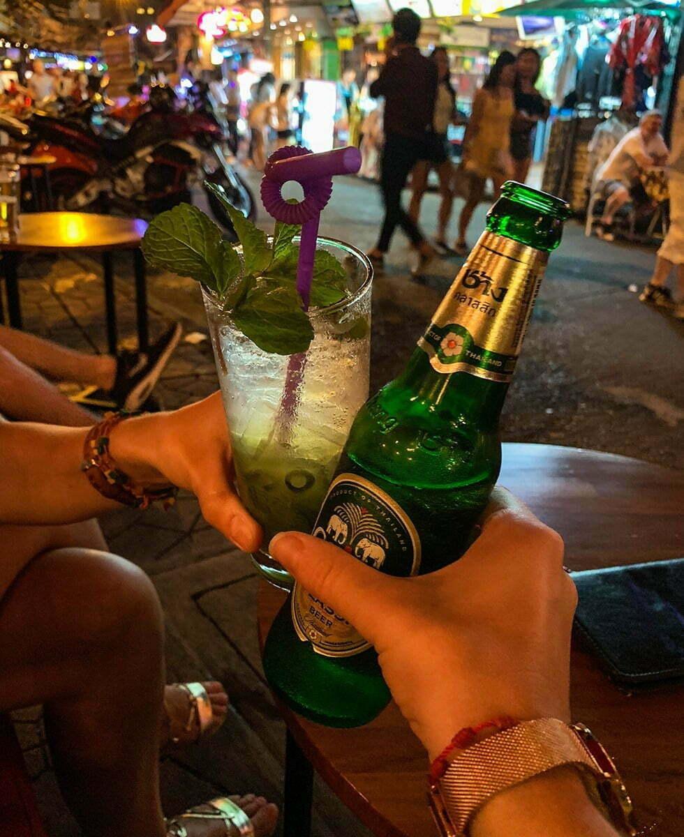 Drankjes in Soi Rambuttri Bangkok