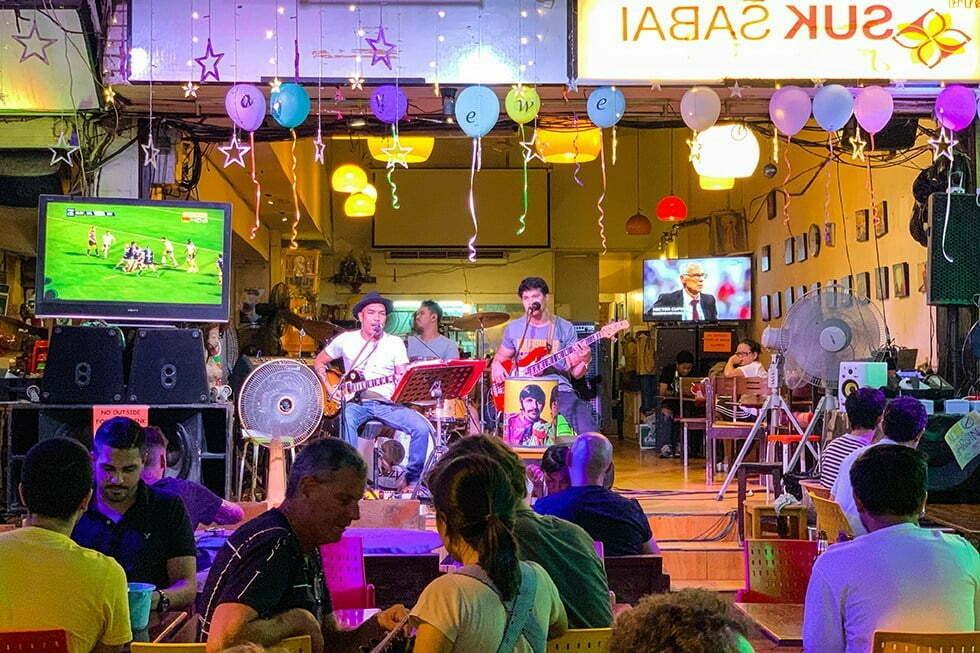 Live muziek in Soi Rambuttri Bangkok