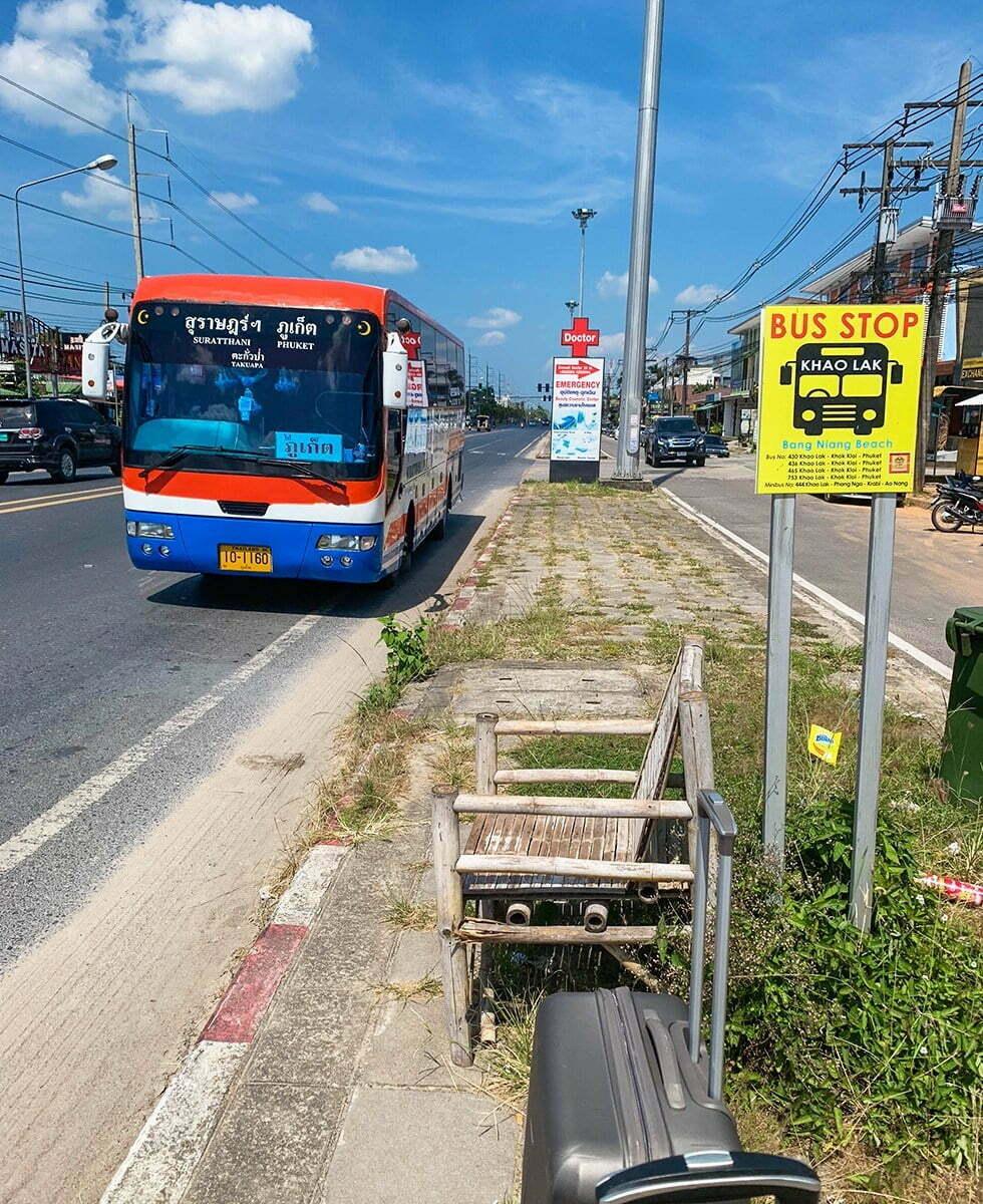 Bus vliegveld Phuket Khao Lak