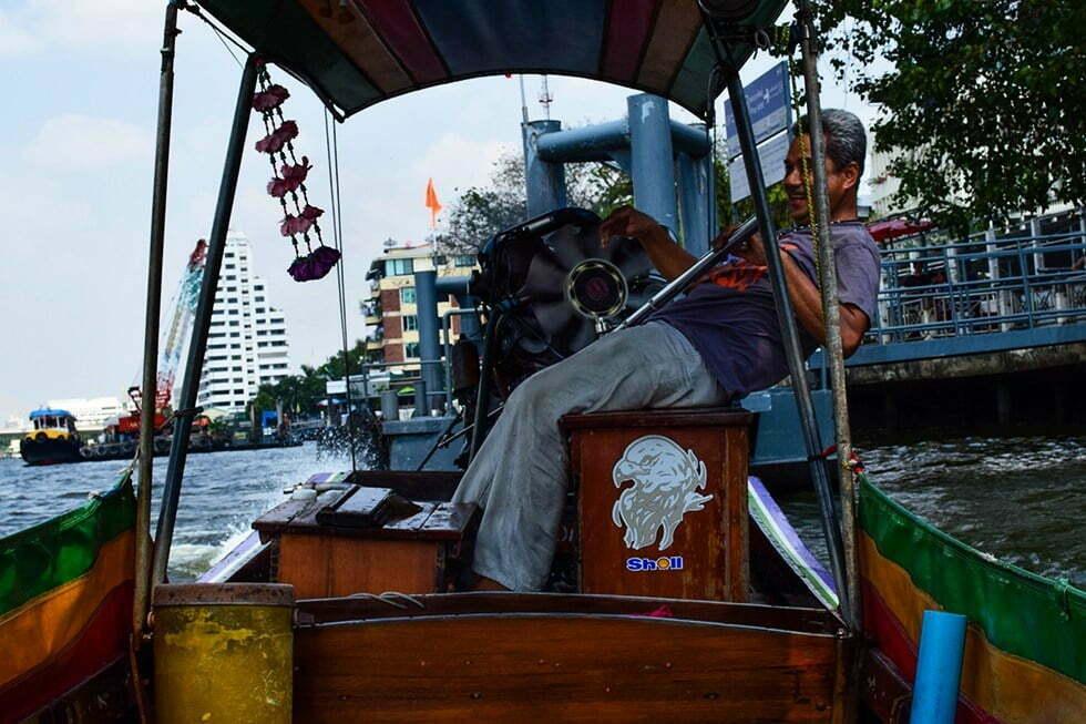 longtailboat klong thonburi bangkok
