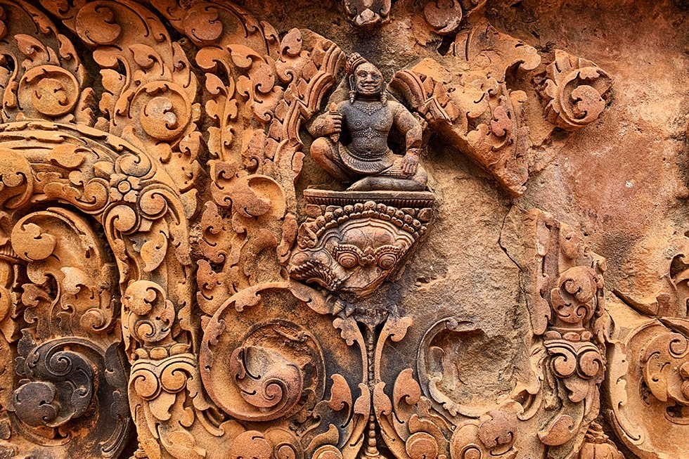 Banteay Srei bij Ankor Wat, Cambodja