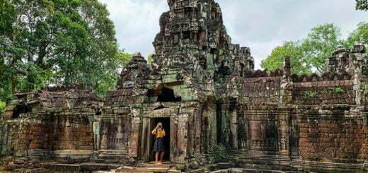 Wat Ta Som bij Ankor Wat, Cambodja