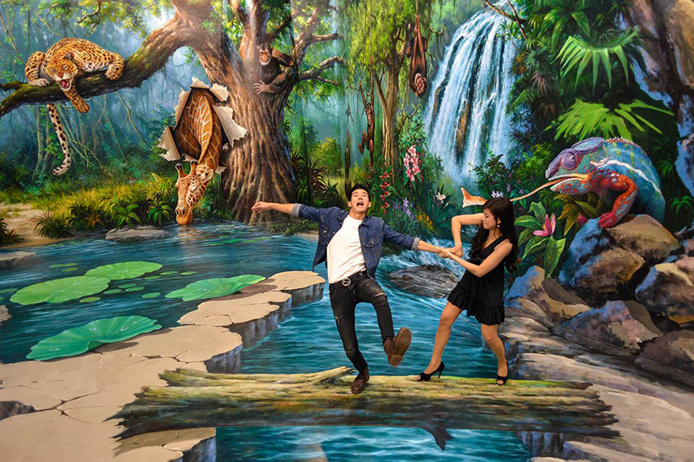 trick eye museum bangkok 3d art in paradise