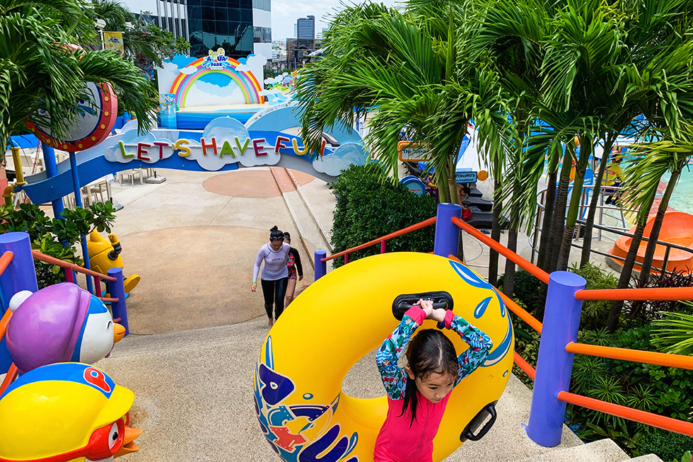 waterpark op winkelcentrum bangkok