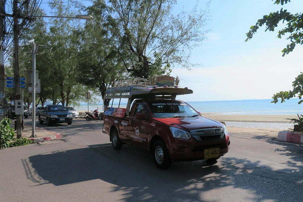 Songtaew vervoer naar Hin Lat Waterval