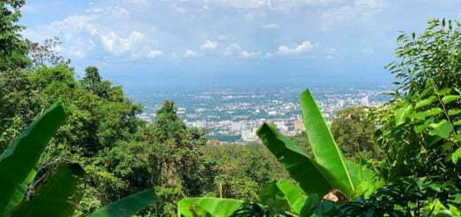 Wat Pha Lat Chiang Mai Panoramisch Uitzicht