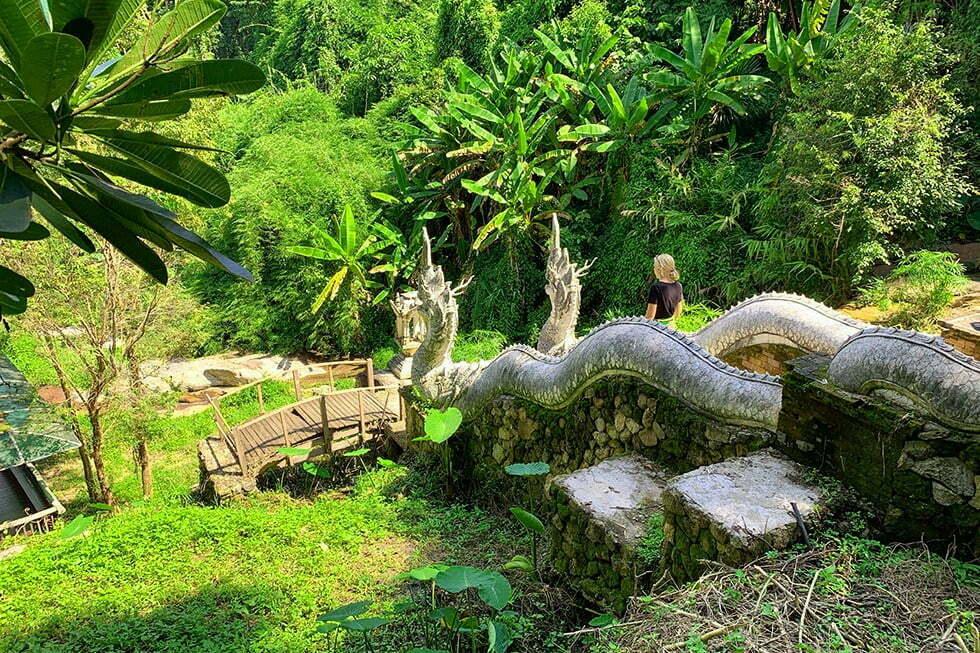 Wat Pha Lat Chiang Mai drakentrap