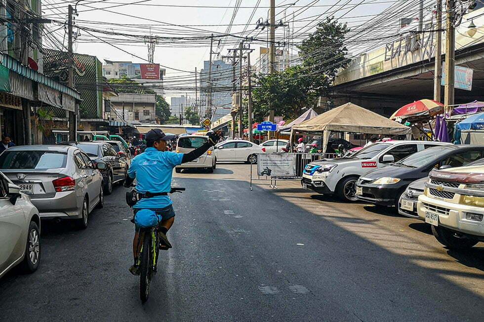 Fietsen door Bangkok